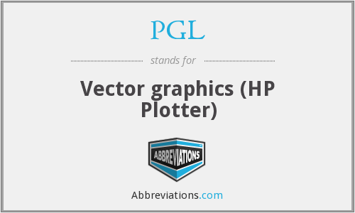 PGL - Vector graphics (HP Plotter)