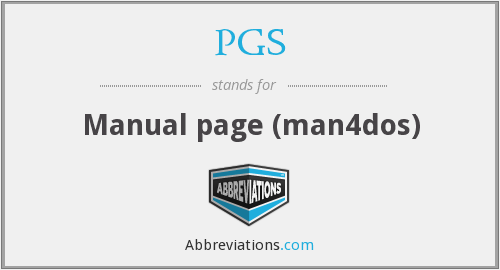 PGS - Manual page (man4dos)