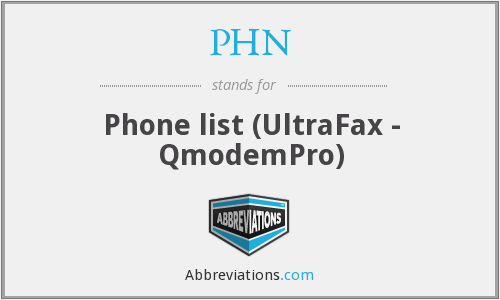 PHN - Phone list (UltraFax - QmodemPro)