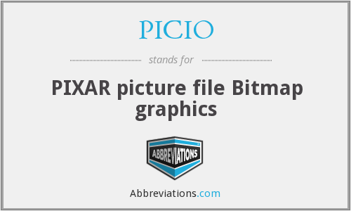 PICIO - PIXAR picture file Bitmap graphics