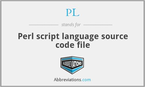 PL - Perl script language source code file