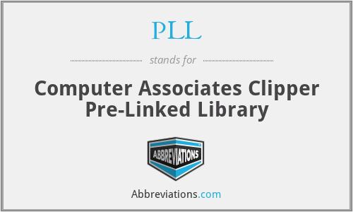PLL - Computer Associates Clipper Pre-Linked Library