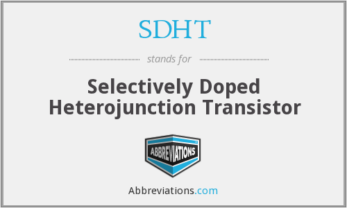 What does SDHT stand for?