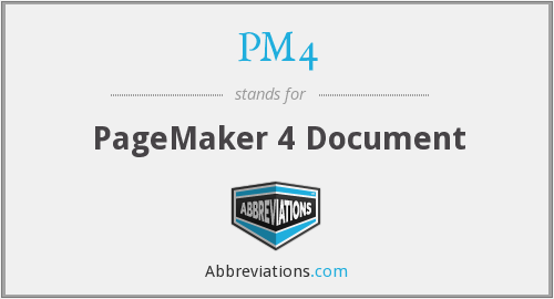What does PM4 stand for?