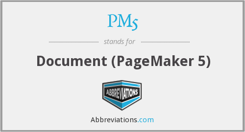 PM5 - Document (PageMaker 5)