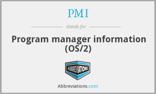 PMI - Program manager information (OS/2)