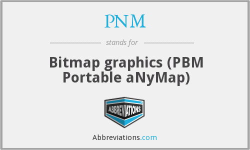 PNM - Bitmap graphics (PBM Portable aNyMap)