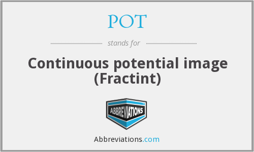 POT - Continuous potential image (Fractint)