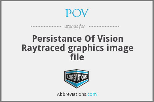 POV - Persistance Of Vision Raytraced graphics image file