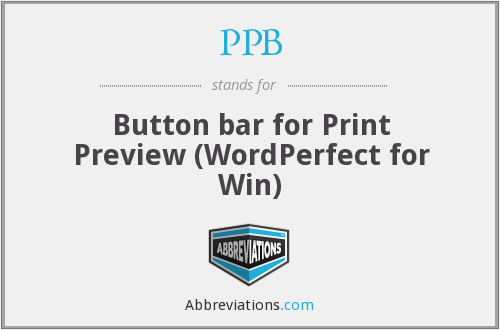PPB - Button bar for Print Preview (WordPerfect for Win)