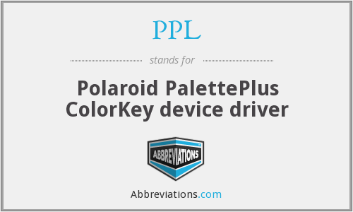 PPL - Polaroid PalettePlus ColorKey device driver