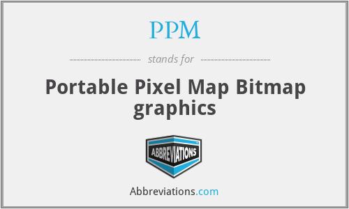 PPM - Portable Pixel Map Bitmap graphics