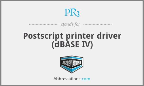 PR3 - Postscript printer driver (dBASE IV)