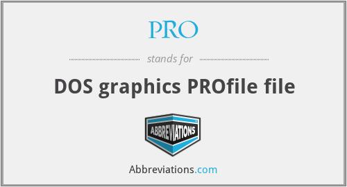 PRO - DOS graphics PROfile file