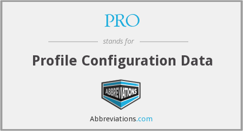 PRO - Profile Configuration Data