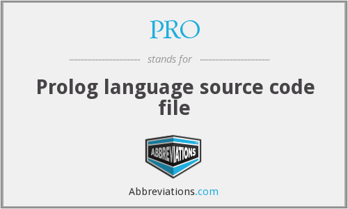 PRO - Prolog language source code file