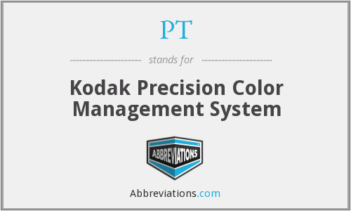 PT - Kodak Precision Color Management System