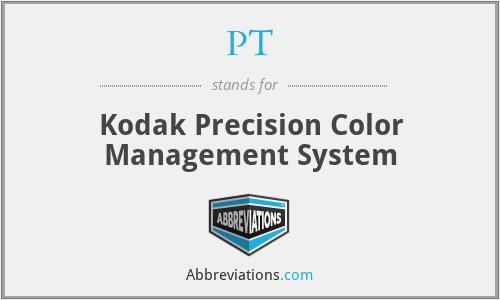 PT - Kodak Precision Color Management System