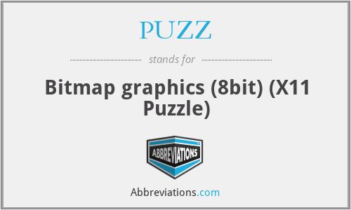PUZZ - Bitmap graphics (8bit) (X11 Puzzle)