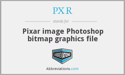 PXR - Pixar image Photoshop bitmap graphics file