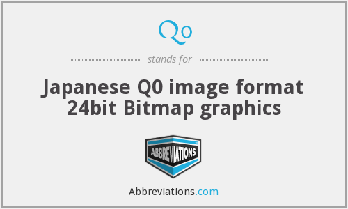 Q0 - Japanese Q0 image format 24bit Bitmap graphics