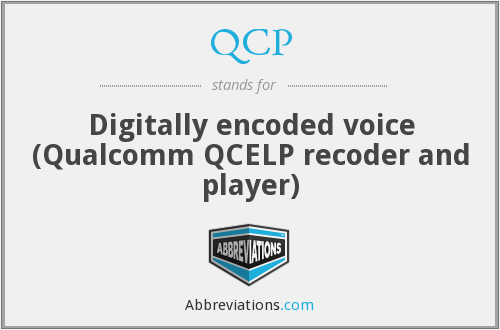 QCP - Digitally encoded voice (Qualcomm QCELP recoder and player)