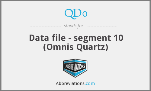 QD0 - Data file - segment 10 (Omnis Quartz)