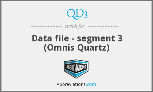 What does QD3 stand for?