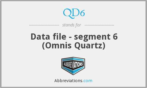 What does QD6 stand for?