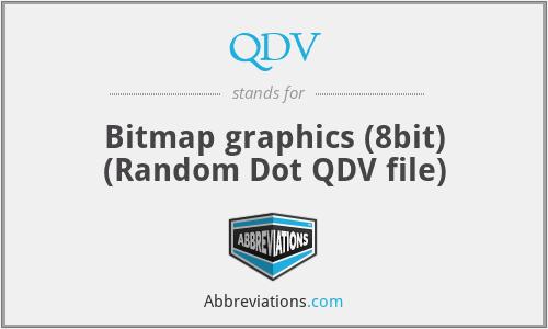 QDV - Bitmap graphics (8bit) (Random Dot QDV file)