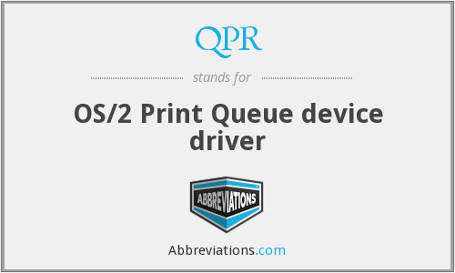 QPR - OS/2 Print Queue device driver