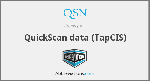QSN - QuickScan data (TapCIS)
