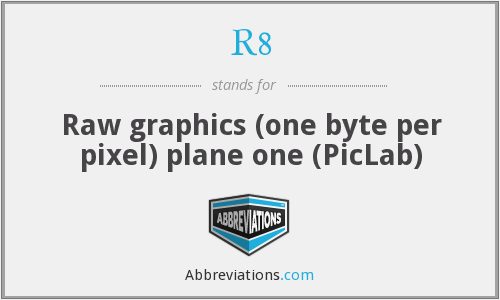 R8 - Raw graphics (one byte per pixel) plane one (PicLab)