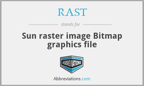 RAST - Bitmap graphics (Sun raster image)