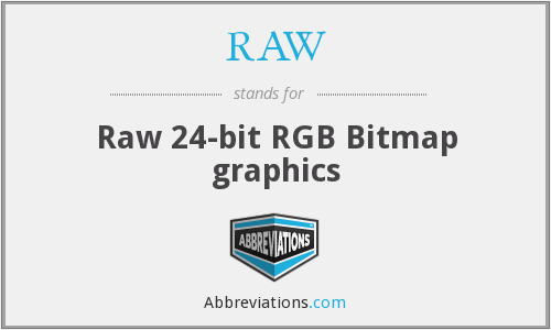 RAW - Raw 24-bit RGB Bitmap graphics