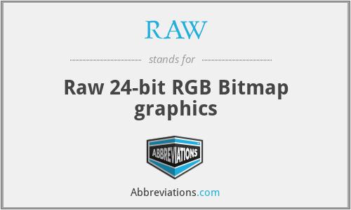 RAW - Raw 24-bit RGB Bitmap graphics