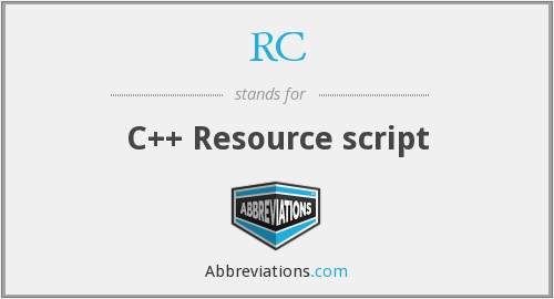 RC - C++ Resource script