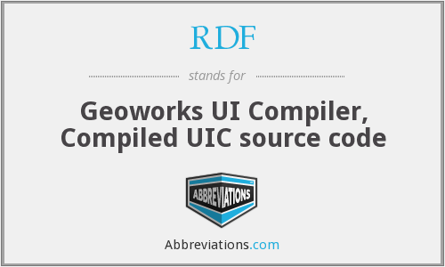 RDF - Geoworks UI Compiler, Compiled UIC source code
