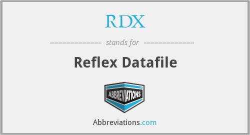 RDX - Reflex Datafile