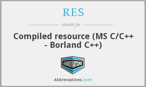 RES - Compiled resource (MS C/C++ - Borland C++)