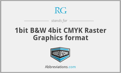 RG - 1bit B&W 4bit CMYK Raster Graphics format