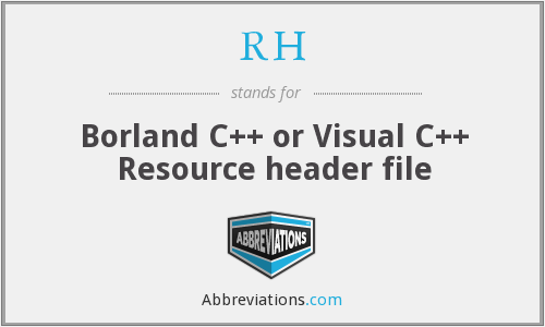 RH - Resource header (Borland C++, Visual C++)