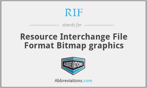 RIF - Resource Interchange File Format Bitmap graphics
