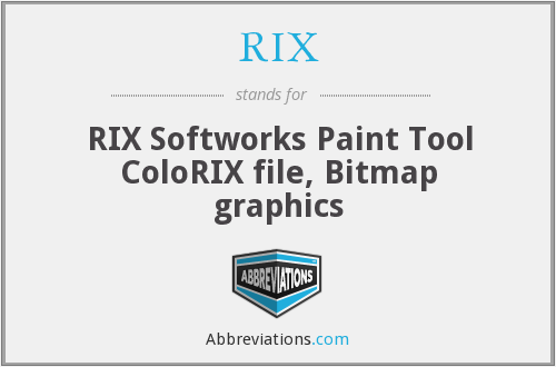 RIX - RIX Softworks Paint Tool ColoRIX file, Bitmap graphics
