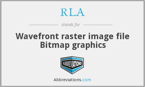 RLA - Wavefront raster image file Bitmap graphics