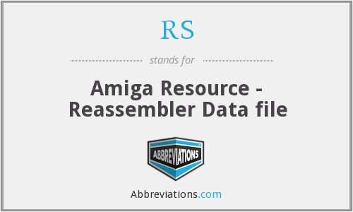 RS - Amiga Resource - Reassembler Data file