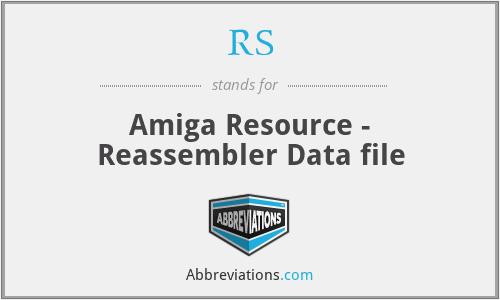 RS - Amiga Resource - Reassembler Data file