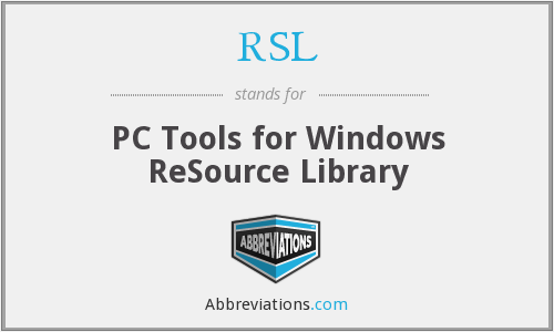 RSL - PC Tools for Windows ReSource Library
