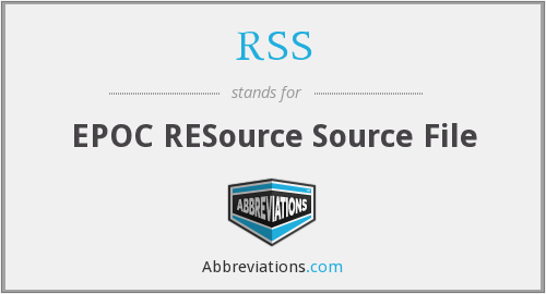 RSS - EPOC RESource Source File