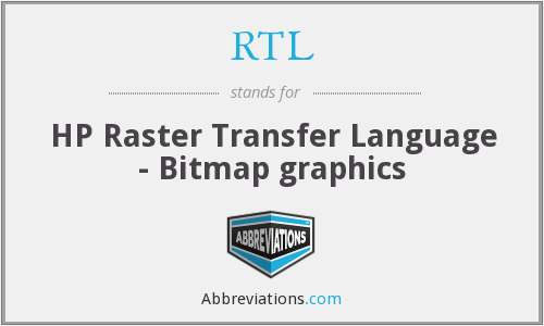 RTL - HP Raster Transfer Language - Bitmap graphics